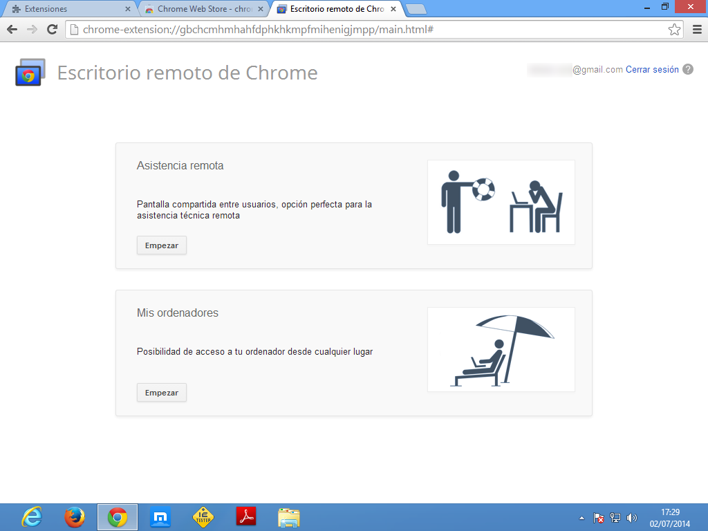 chrome-remote-escritorio